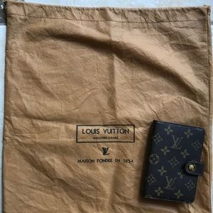 LOUIS VUITTON ADDRESS BOOK & DUST BAG - LIKE NEW